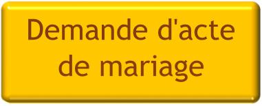 acte mariage étranger